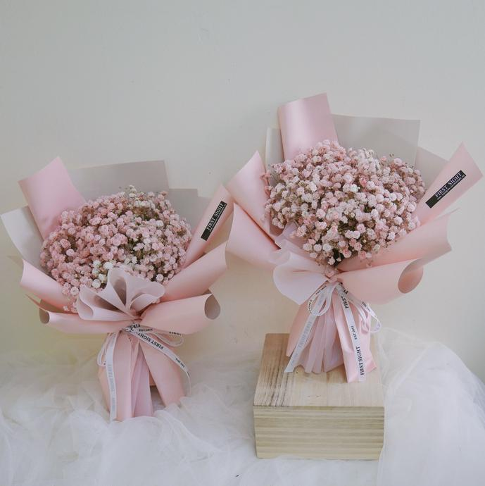 Affordable Florist with Baby Breath's Bouquet Singapore - First Sight SG