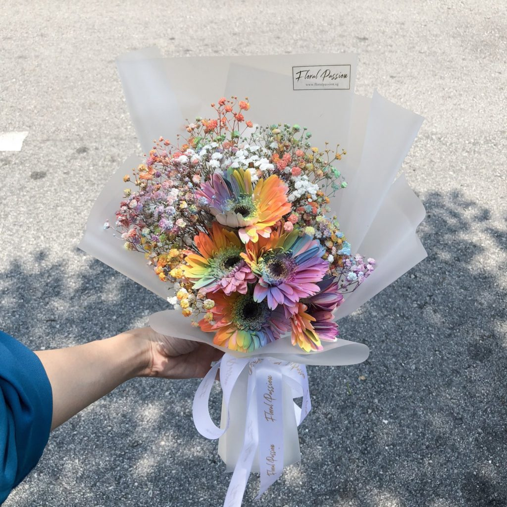 Affordable Florist with Baby Breath's Bouquet Singapore - Floral Passion