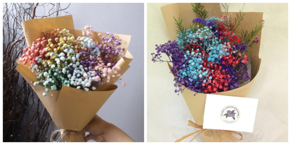 Affordable Florist with Baby Breath's Bouquet Singapore - Floral Garage