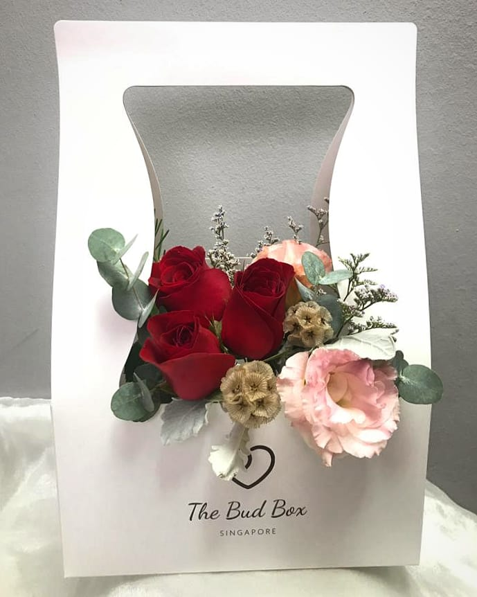 Bud Box for 1 Aug - Flower in a Box Singapore | Free Same Day Delivery $30