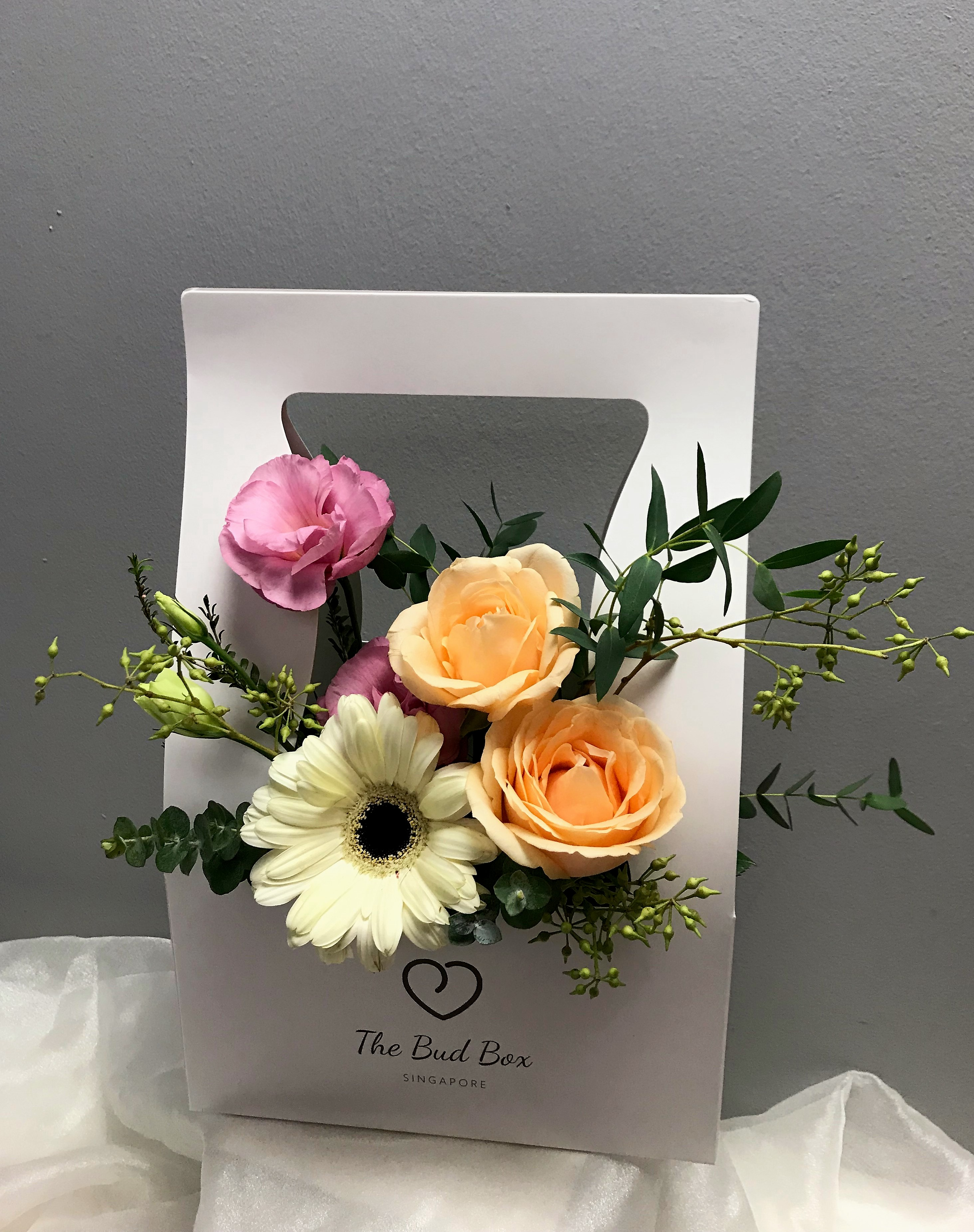 Bud Box for 25 July - Flower in a Box Singapore | Free Same Day Delivery $30