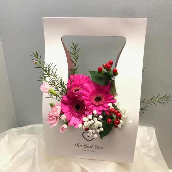 Bud Box for 14 Aug - Flower in a Box Singapore | Free Same Day Delivery $30