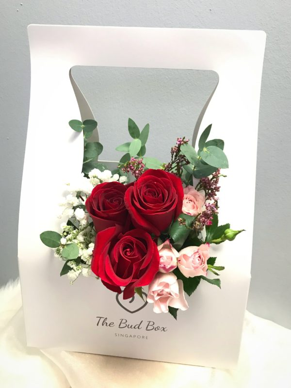 Roses Bud Box - Flowers in a Box | Florist Singapore Cheap