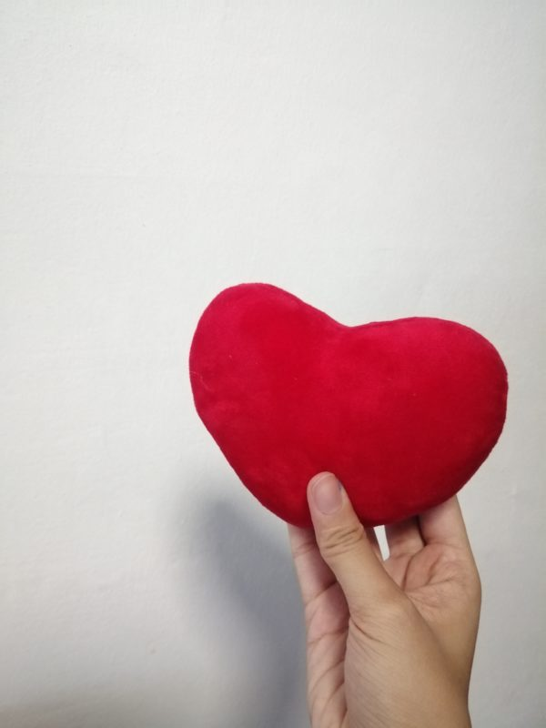 Solid Red Heart Plushy