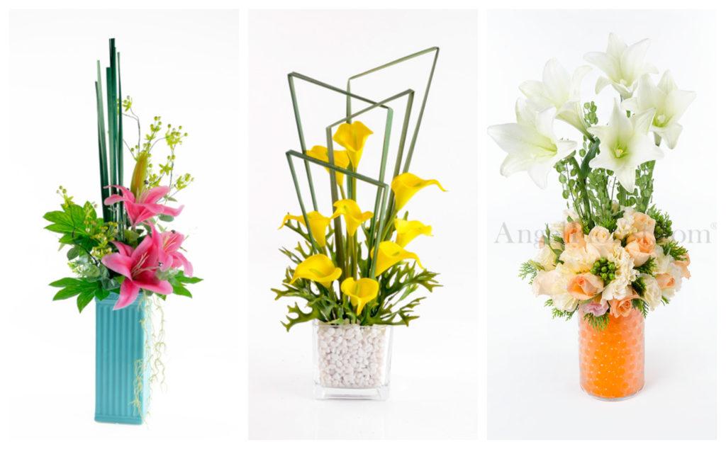 angel florist lily arrangementss