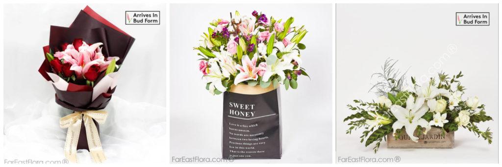far east flora lily bouquet