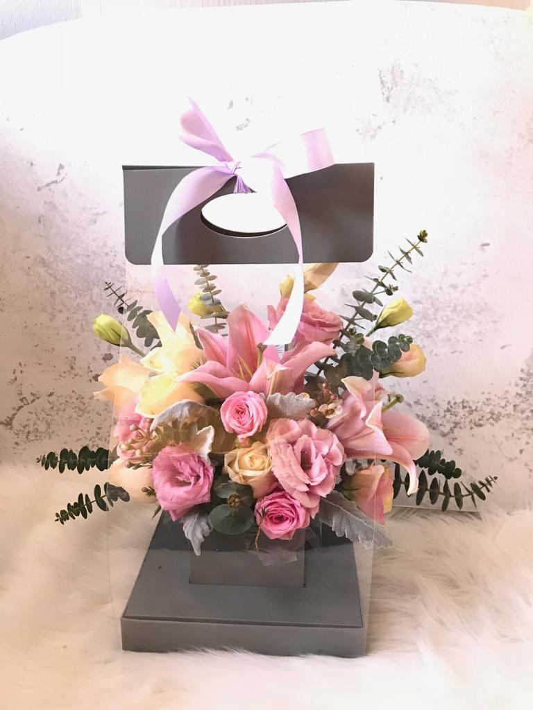 floral garage lily floral carrier