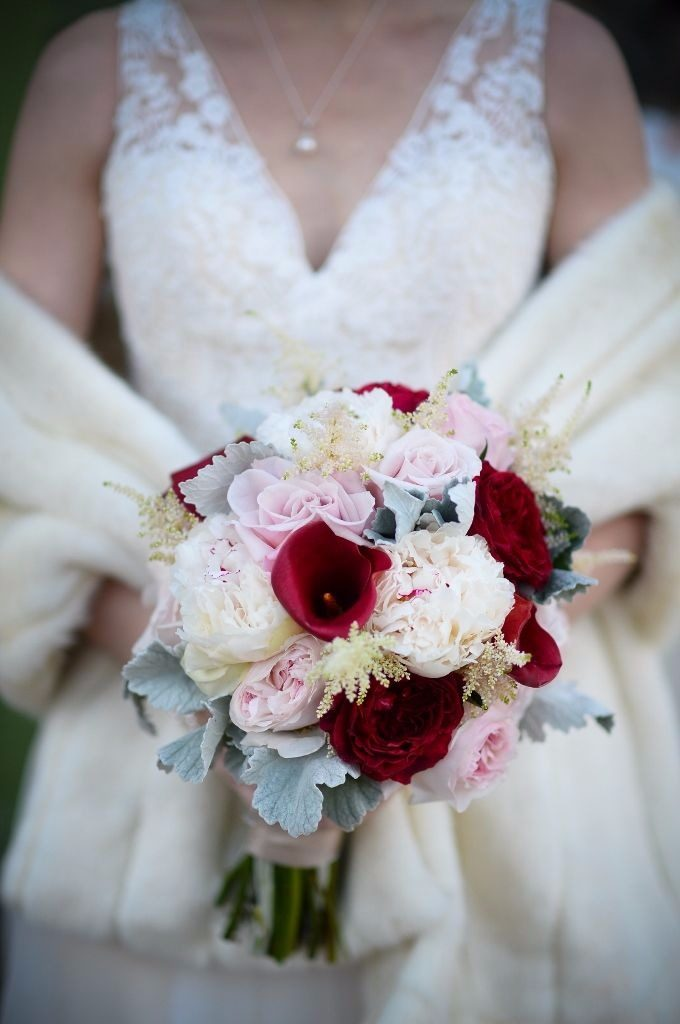 floral garage lily bridal bouquet