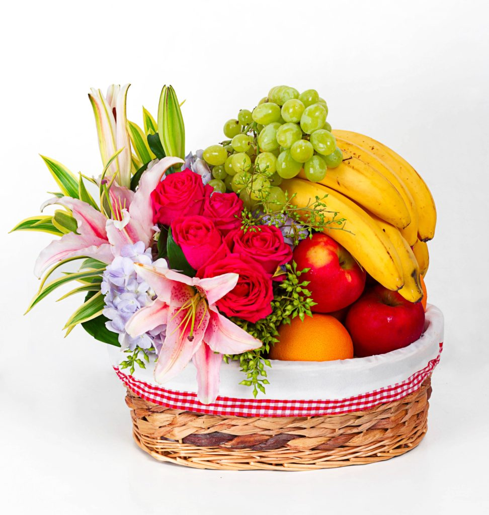Get well soon hamper basket - floral garage