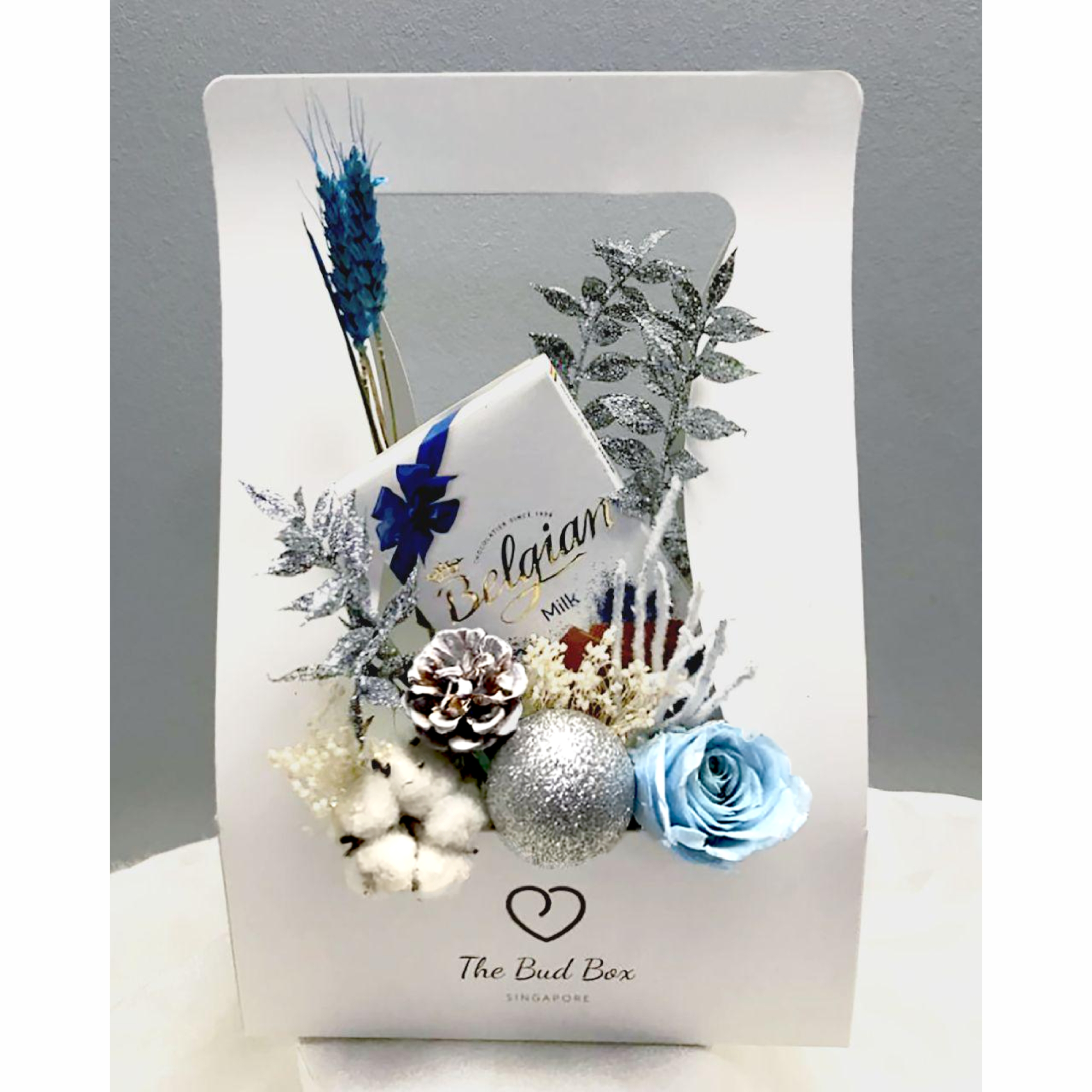 Christmas Flower Box Free Delivery The Bud Box
