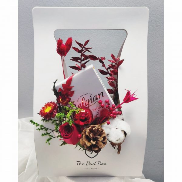 Christmas Flower Box | Red Christmas Flowers | Bloombox Free Same Day Delivery