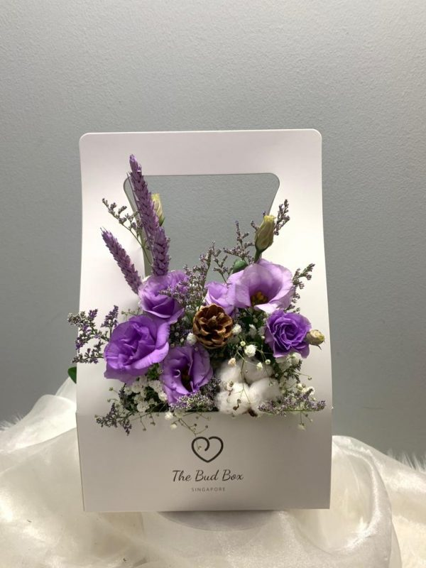 Purple flowers bloombox