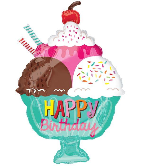 Ice cream balloon birthday