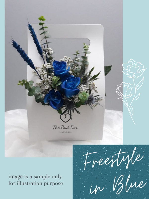 father's day bloombox | blue flower box
