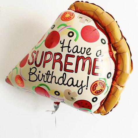 pizza balloon happy birthday