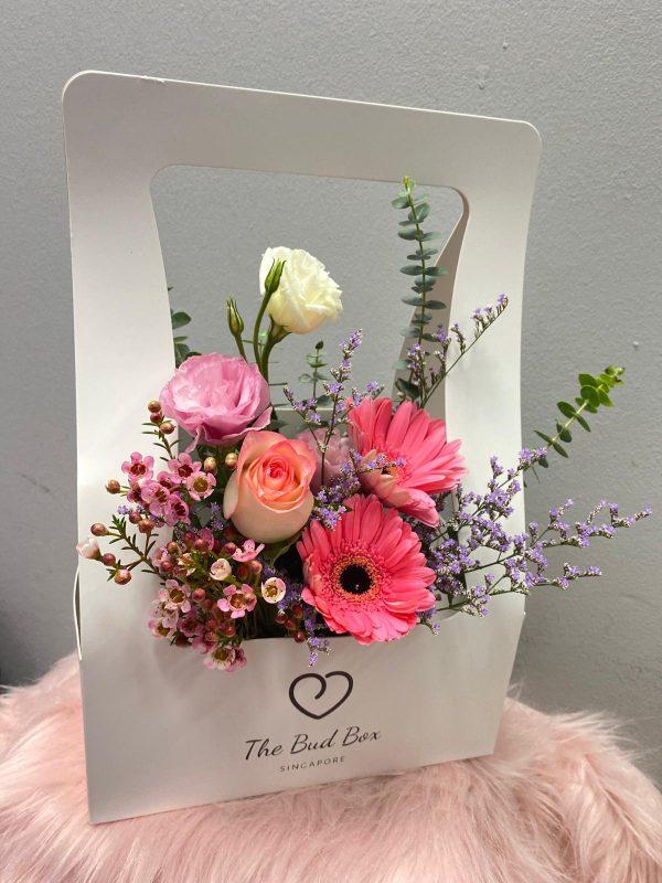 Pink Gerbera Flower Box