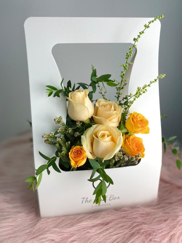 Champagne Rose Flower Bud Box