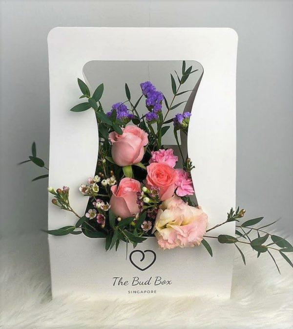 Pink Roses Flower Bud Box
