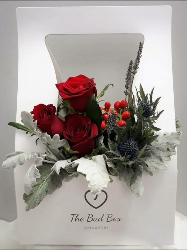 Red Rose Flower Box