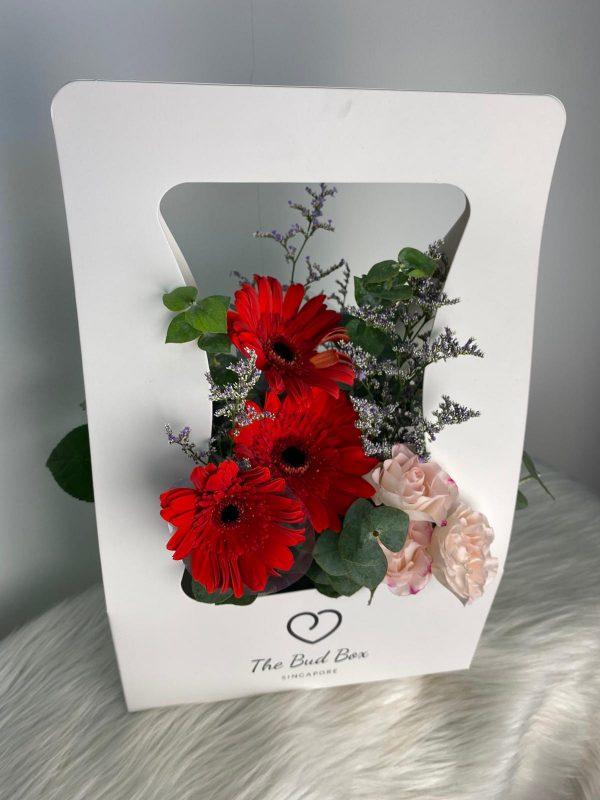 Red Gerbera Daisy Flower Box