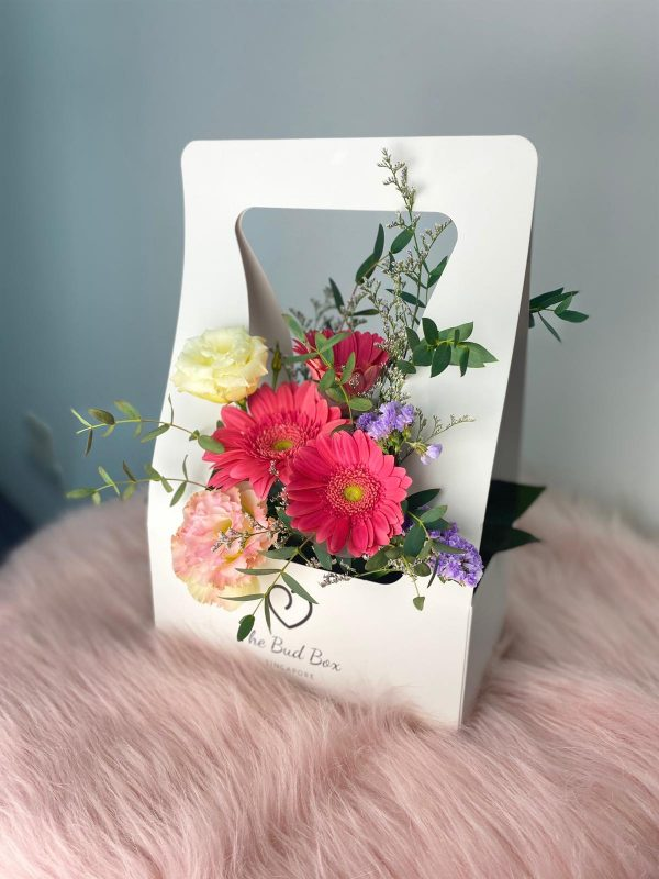 Pink Gerbera Flower Box
