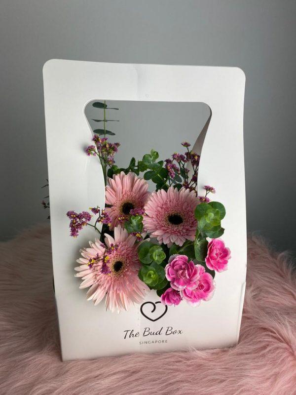 Pink Gerbera Bud Box